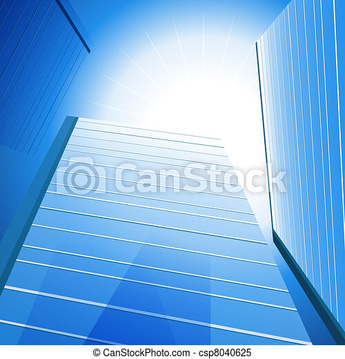 Highrise Sunshine Background - csp8040625