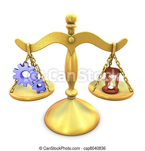 Metaphor of balancing between process and time consuming - csp8040836