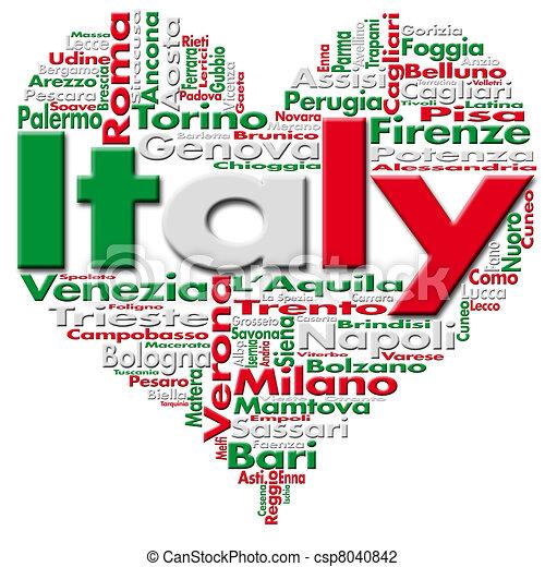 I Love Italy - csp8040842