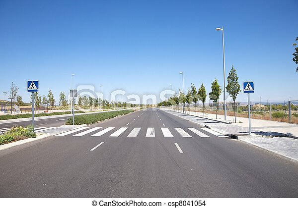 nobody on crosswalk - csp8041054
