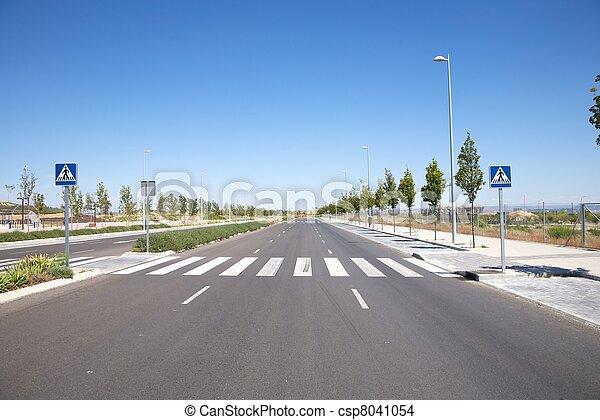 nobody on crosswalk - csp8041054
