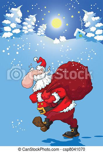 Christmas night with Santa - csp8041070