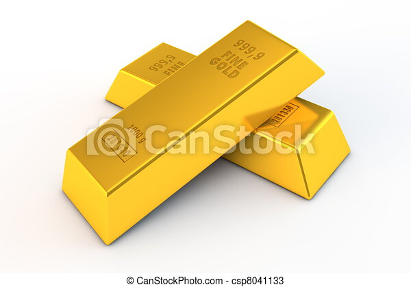 Pair of Gold Bars - csp8041133