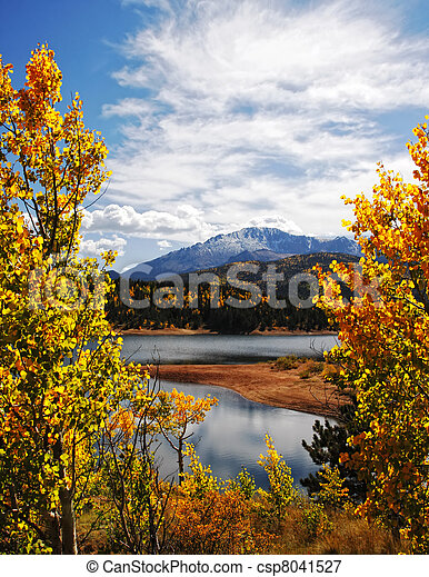 Autumn Rocky Mountain Landscape - csp8041527