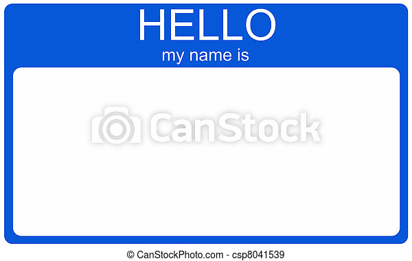 Blue Nametag - csp8041539