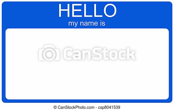 Blue Nametag - csp8041539