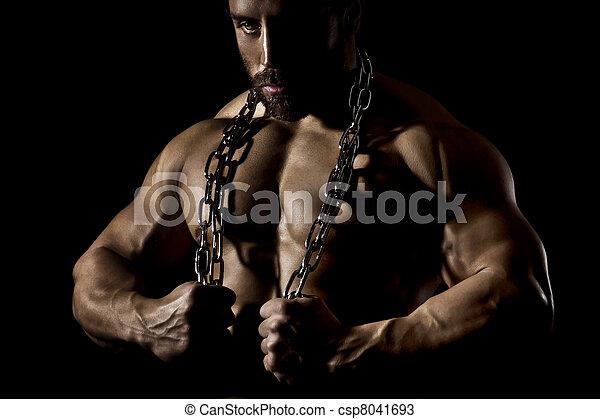 bodybuilding man - csp8041693