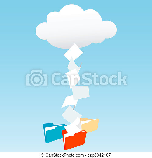 Data from cloud computing into file folders - csp8042107