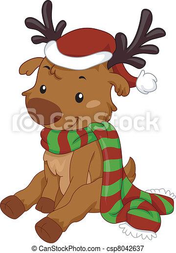 Reindeer Scarf - csp8042637