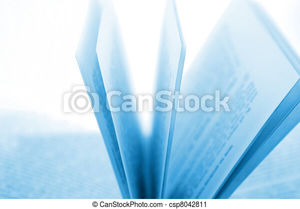 Closeup of open book pages - csp8042811