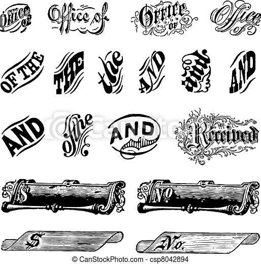Vector Vintage Letter Set - csp8042894