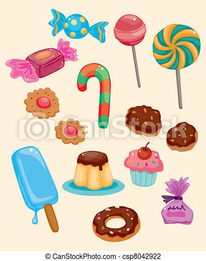 cartoon candy icon - csp8042922