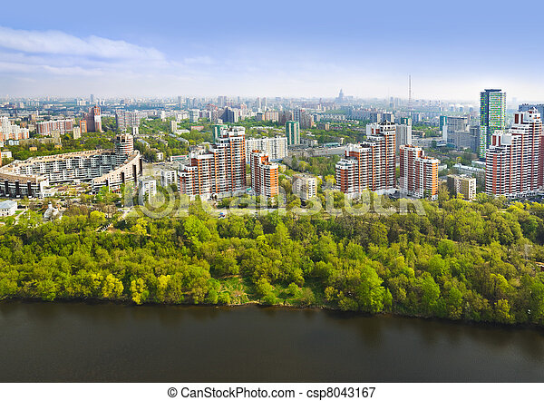 Moscow, Russia - aerial view - csp8043167