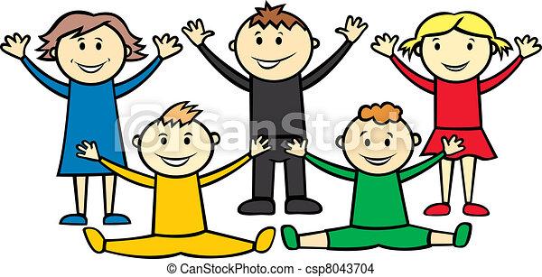 olympic children - csp8043704