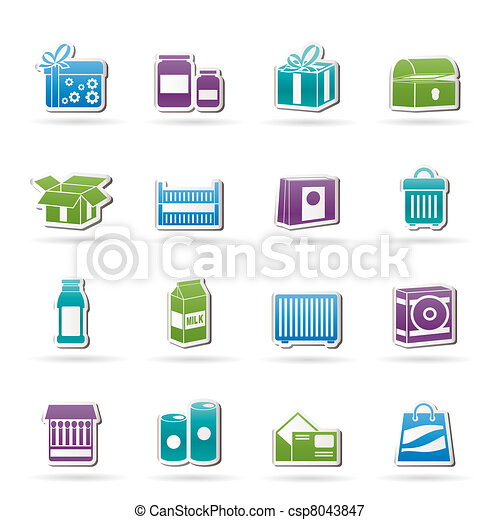 different kind of package icons - csp8043847