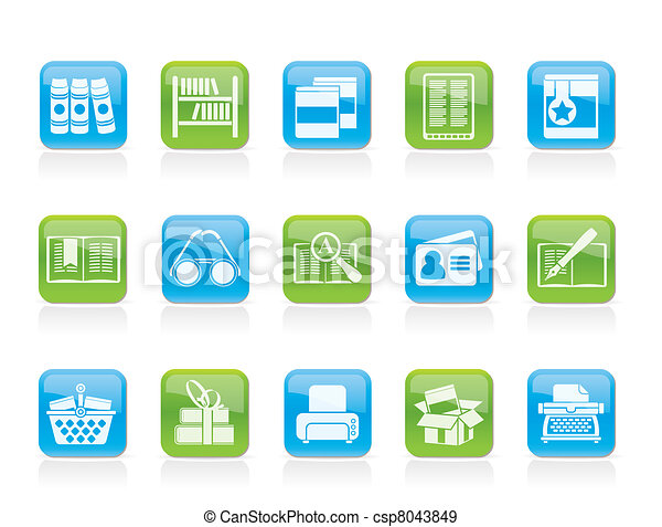 Library and books Icons - csp8043849