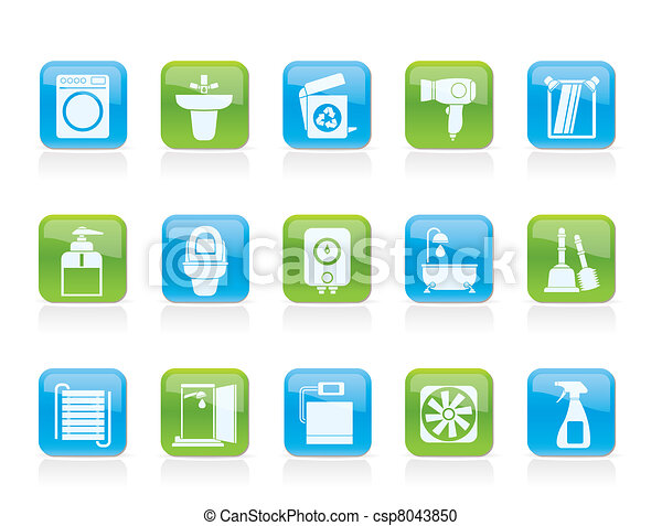 Bathroom and toilet objects - csp8043850