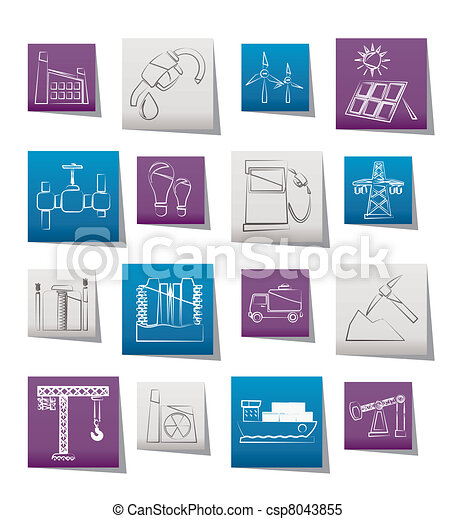 Business and industry icons  - csp8043855