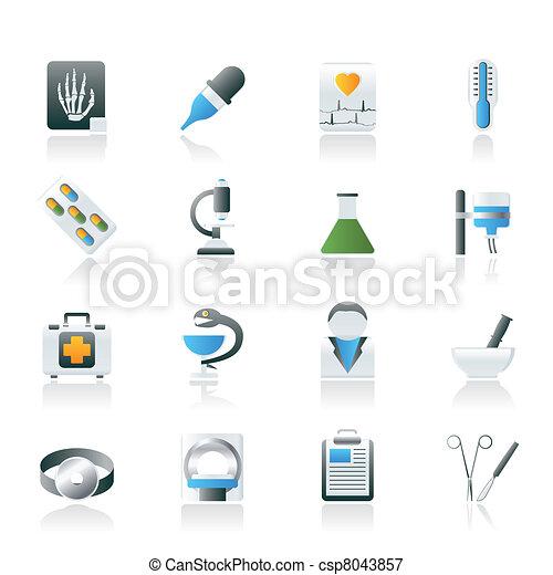 Healthcare and Medicine icons - csp8043857