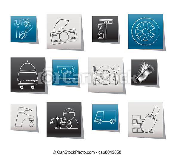 Services and business icons - csp8043858