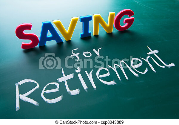 Saving for retirement concept - csp8043889