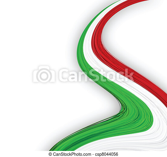 Italian flag. - csp8044056
