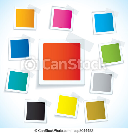 Paper tape square tag - csp8044482