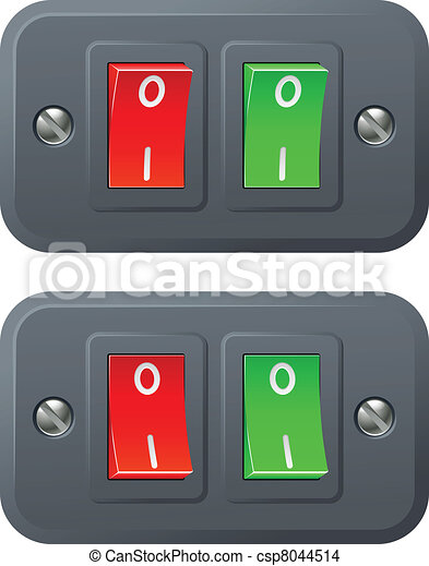 Red and green switches - csp8044514
