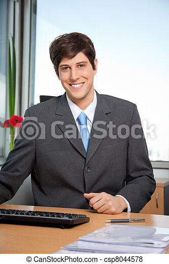 Male Manager Smiling - csp8044578