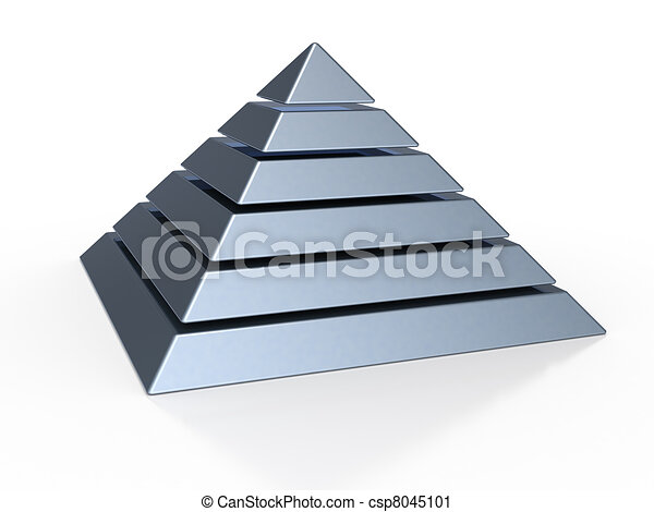 pyramid with six colored levels - csp8045101