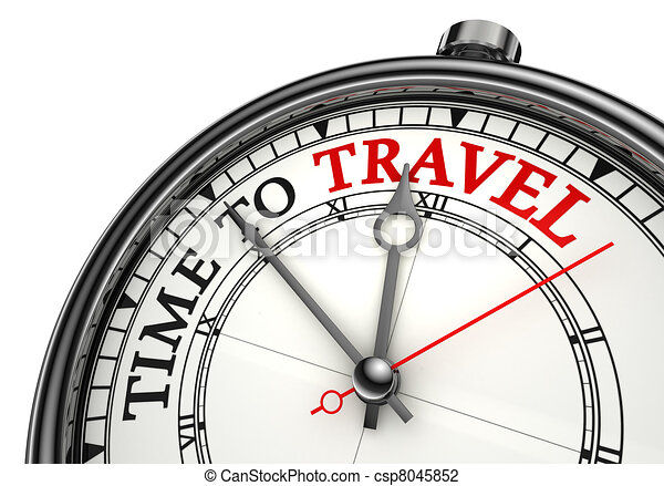 time to travel concept clock - csp8045852