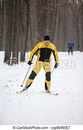 Cross-country skiing man - csp8046057