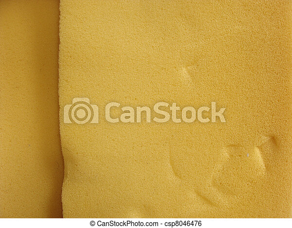 close view of orange industrial foam substance - csp8046476