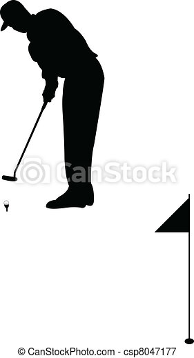 Golf player - csp8047177