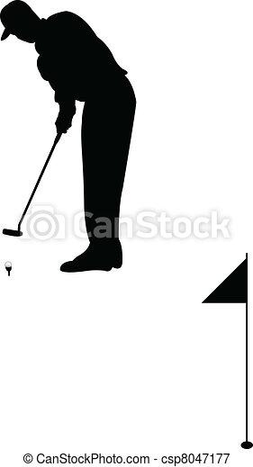Golf player - csp8047177