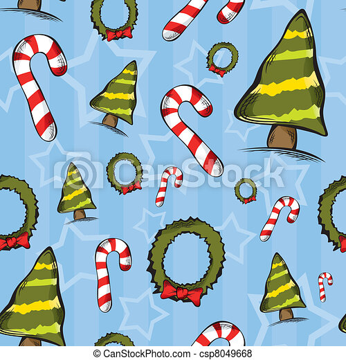 Seamless Christmas Pattern - csp8049668