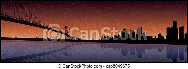 Detroit Michigan - csp8049675