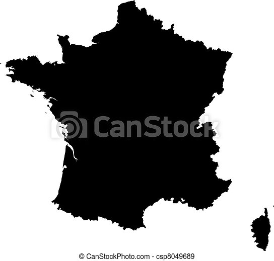 Map of France - csp8049689
