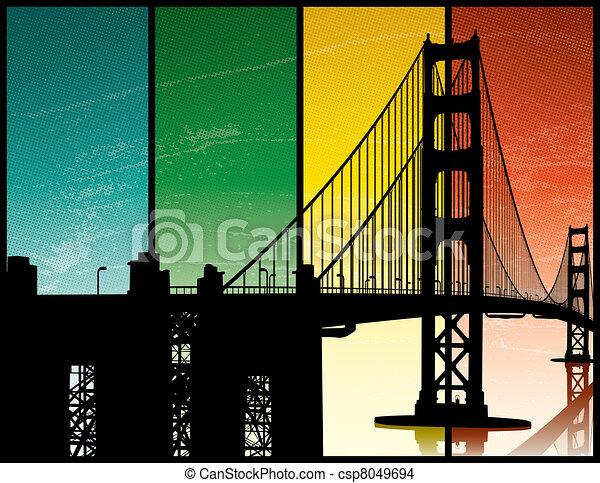 Golden Gate Bridge Graphic Golden Gate Bridge Eps Vector