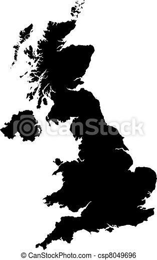 Map of Great britain - csp8049696