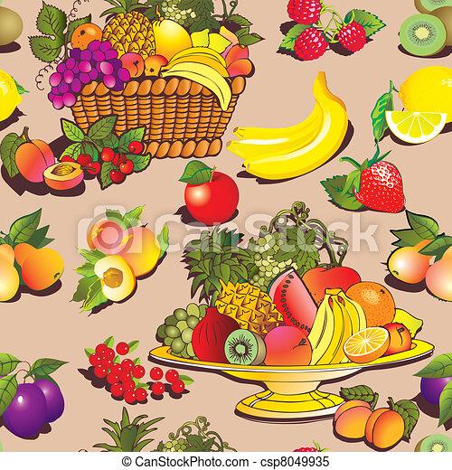 Fruit and berries. - csp8049935