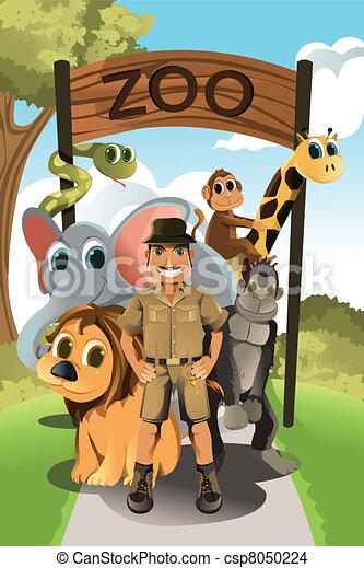 Zookeeper and wild animals - csp8050224