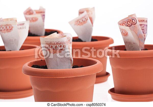 stock foto van geld groei zakelijk series groeiende geld bloempot csp8050374 zoek naar. Black Bedroom Furniture Sets. Home Design Ideas