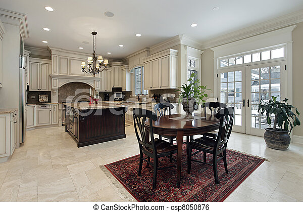 Large kitchen with island - csp8050876