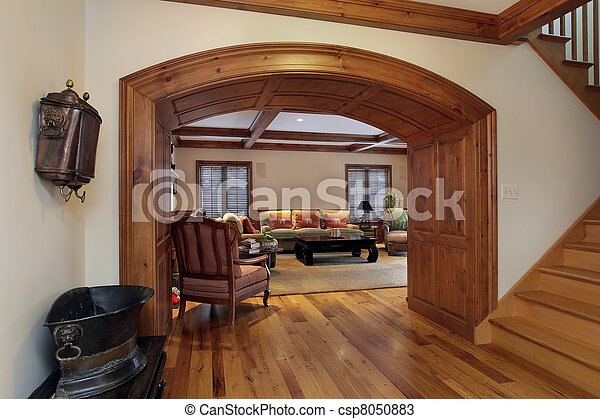 Entry into luxury living room - csp8050883