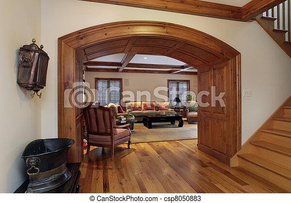 Entry into luxury living room - csp8050883