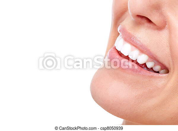Beautiful woman smile and teeth. - csp8050939