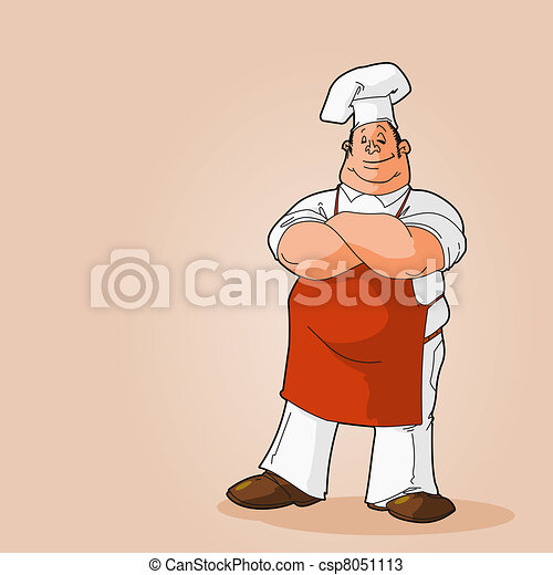 Potrait of a Chef Clip Art - csp8051113