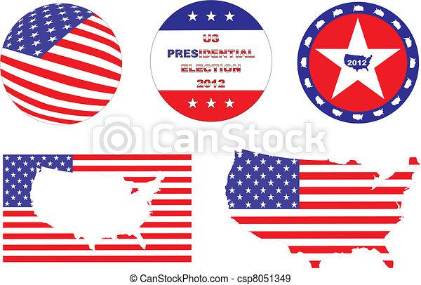US Election visual kit - csp8051349