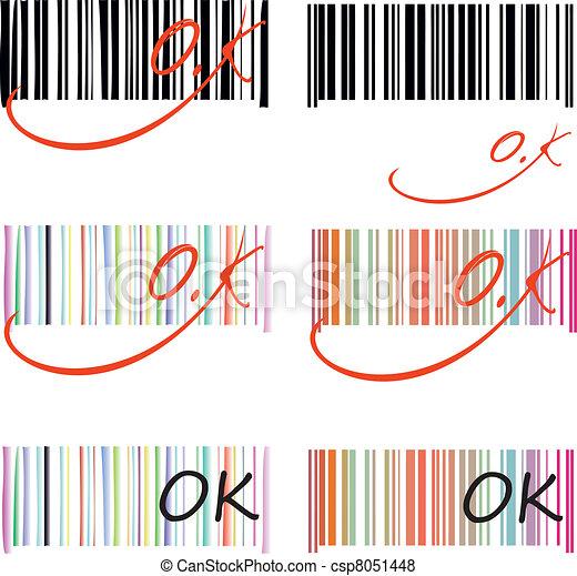 Bar code, illustration, symbolism e - csp8051448